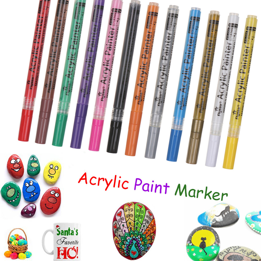 Painting Water-based Graffiti Marker Acrylic Paint Watercolor Pen Hand Painted