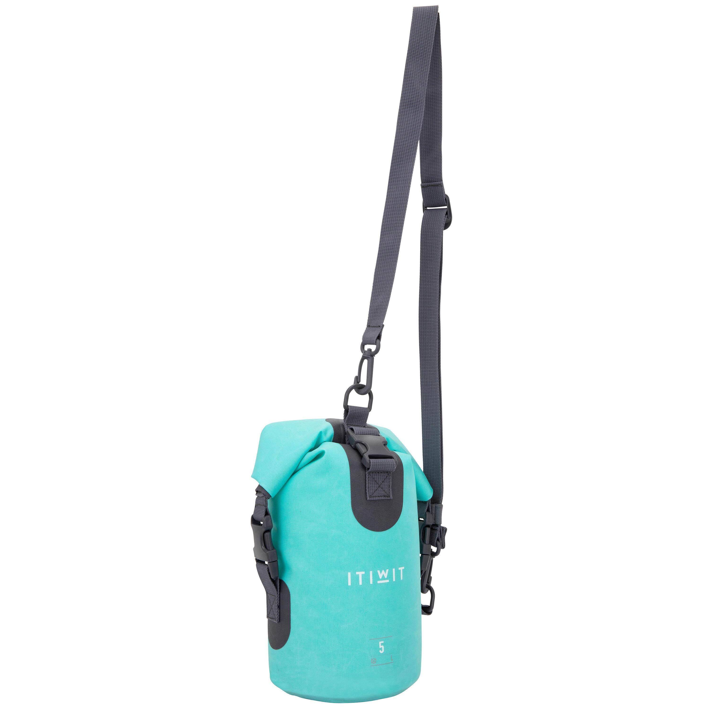 [ด่วน!! โปรโมชั่นมีจำนวนจำกัด] กระเป๋าดัฟเฟิลกันน้ำขนาด 5 ลิตร (สีเขียว) สำหรับ แคนูคยัค แสตนด์อัพแพ็ดเดิ้ล เรือใบ เรือยอร์ช