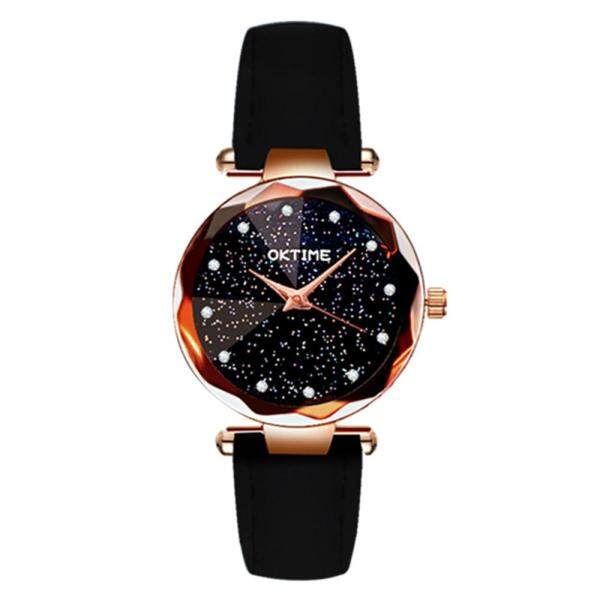 Women Fashion Brilliant Starry Night Dial Watch Lady Simple Exquisite Metal Quartz Wrist Watch Best gift for her Malaysia