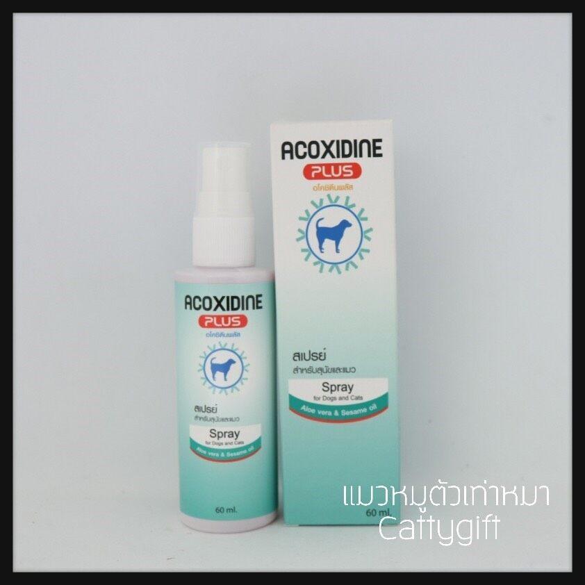 Acoxidine Plus Spray อโคซิดีน พลัส สเปรย์โลชั่นทาผิวหนัง.