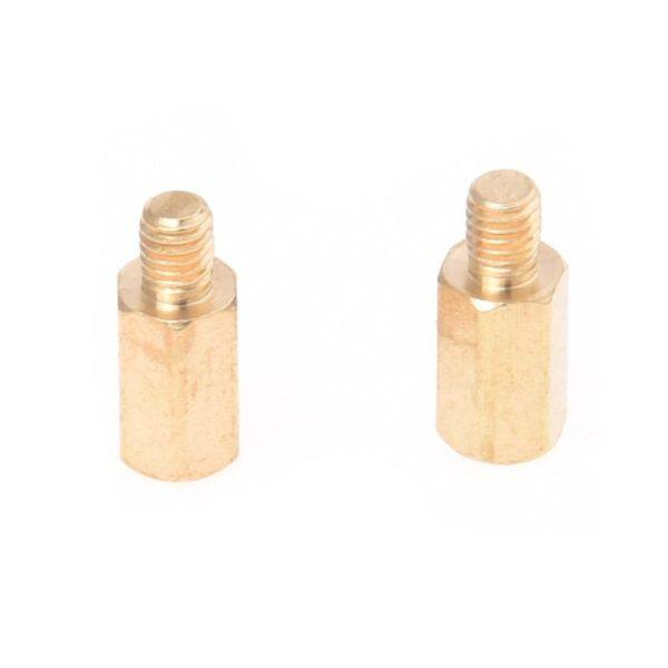 M3 Male x M3 Female 8mm Long Hexagonal Brass PCB Standoffs Spacers 50 Pcs