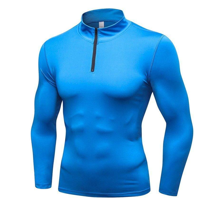 Osman Pria Atasan Kompresi Cepat Kering Sweater Baselayer Lengan Panjang Di Bawah Top T Shirt By Osmanthus.
