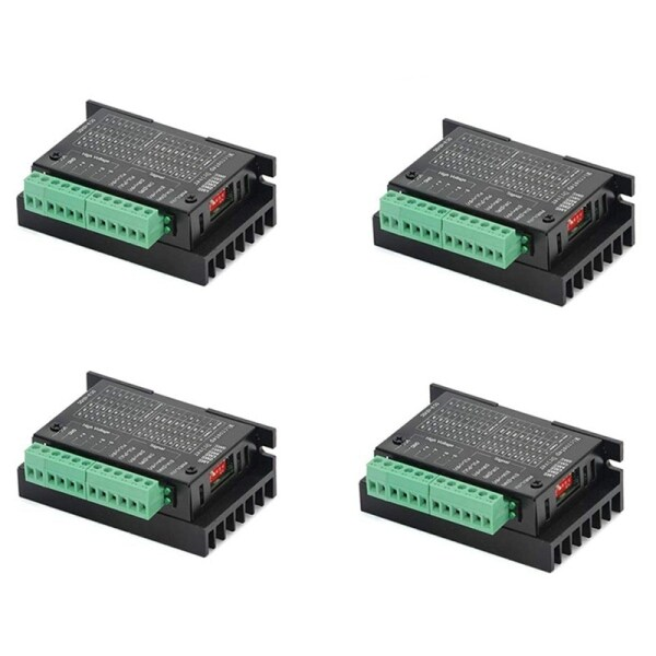 4 Pack TB6600 4A 9-42V Stepper Motor Driver CNC Controller, Stepper Motor Driver Nema Tb6600 Single Axes Two Phase Hybrid Stepper Motor for CNC