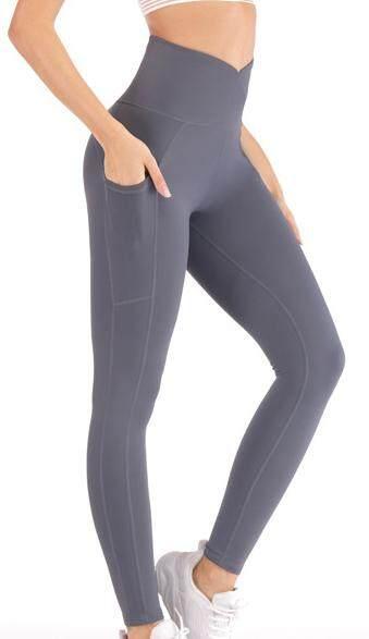 กางเกงเลกกิ้ง กางเกงโยคะสตรี กระชับสัดส่วนเอวสูง พร้อมส่ง C1086.