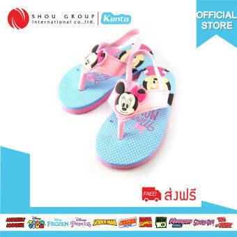 Kenta รองเท้า Baby Minnie Mouse โฟมรัดส้น รุ่นBM28ฟ้า