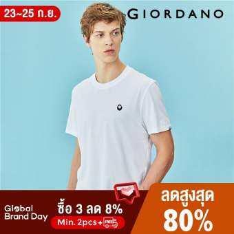 Giordano เสื้อยืดแขนสั้น ผ้าฝ้าย 100% ปักด้วยรูป VON Free Shipping 04097238