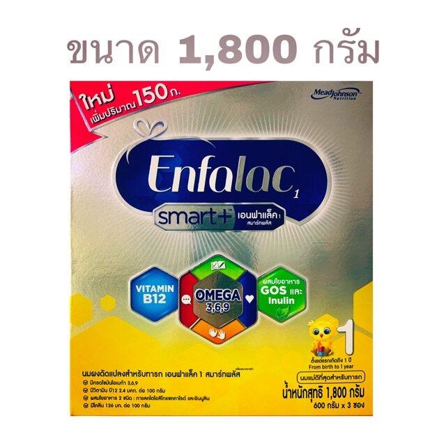 ราคา Enfalac Smart+ (1) เอนฟาแลค สมาร์ทพลัส สูตร 1 **ขนาดใหม่ 1,800 กรัม**