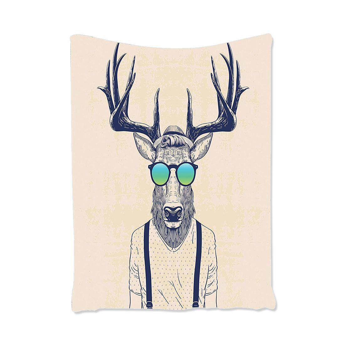 Animal Tapestry Deer Decor Fashion Creative Fun Animal Theme Art Print, Bedroom Living Room Dorm Wall Hanging Tapestry, 100*150cm By Jonesmayer