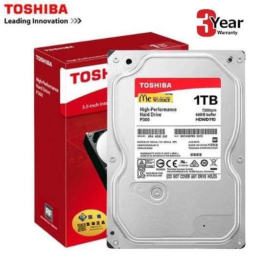 1 Tb (ฮาร์ดดิสก์) Toshiba P300 Sata-Iii (64mb., 7200rpm,hdwd110) - สินค้ารับประกัน 3 ปี.