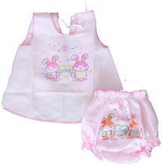 ขาย ซื้อ Juju ชุดเด็กอ่อนแรกเกิด ผู้หญิงอย่างบางแบบผูกหลัง สีชมพู