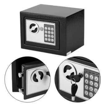 ตู้เซฟ ตู้เซฟนิรภัย ตู้เซฟออมสิน ตู้เซฟเก็บเงิน รุ่นใหม่ ตู้เซฟอิเล็กทรอนิกส์ safety box safety deposit box ตู้เซฟนิรภัย (Size : 23 x 17 x 17 cm.)