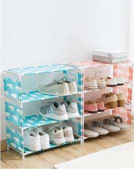 itools ชั้นวางรองเท้า ตู้วางรองเท้า ตู้เก็บรองเท้า ตู้ใส่รองเท้า 4 ชั้น Shoes Rack สไตล์ IKEA-