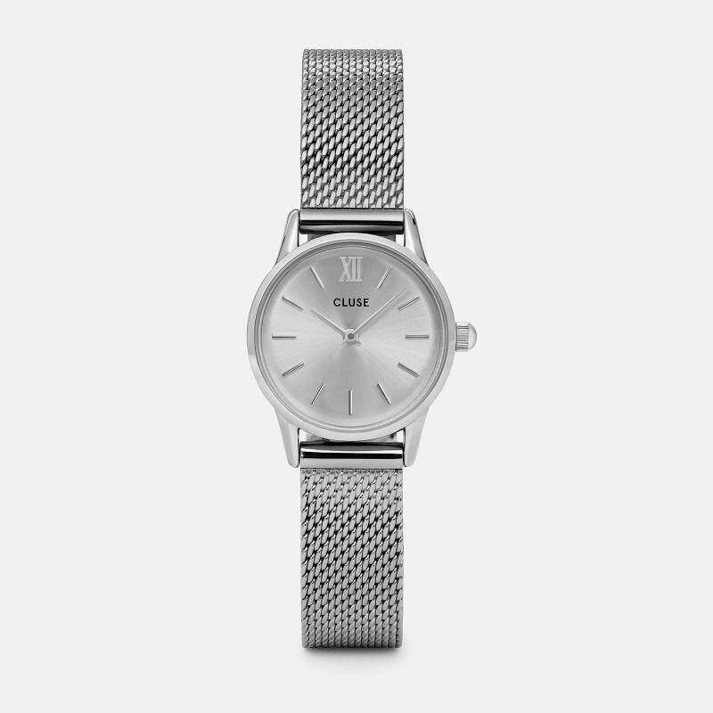 Original Cluse Watch La Vedette Mesh Full Silver  24 mm Malaysia