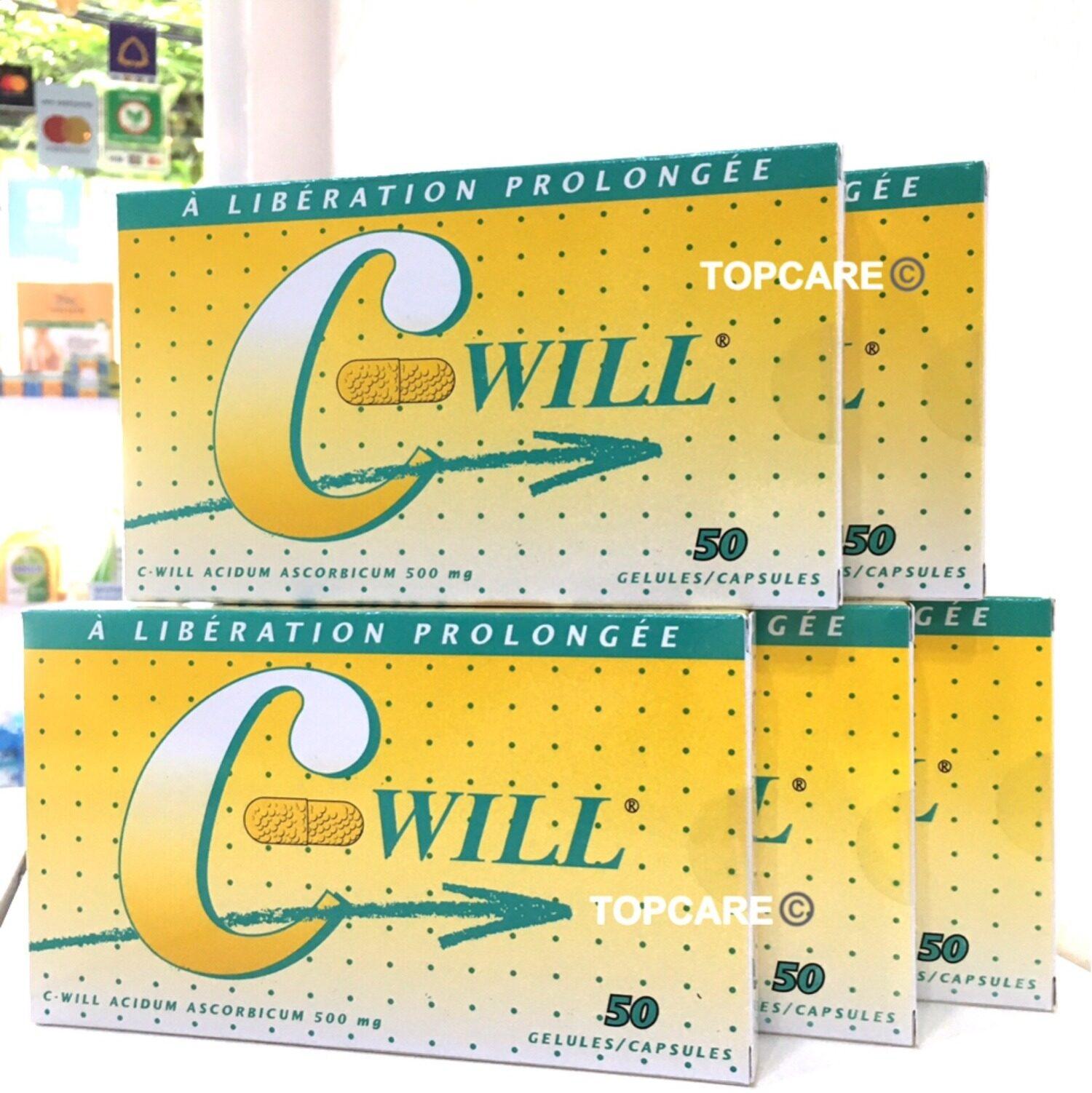 C Will Vitamin C 500 mg (กล่องละ 50 แคปซูล) EXP.24/04/2023