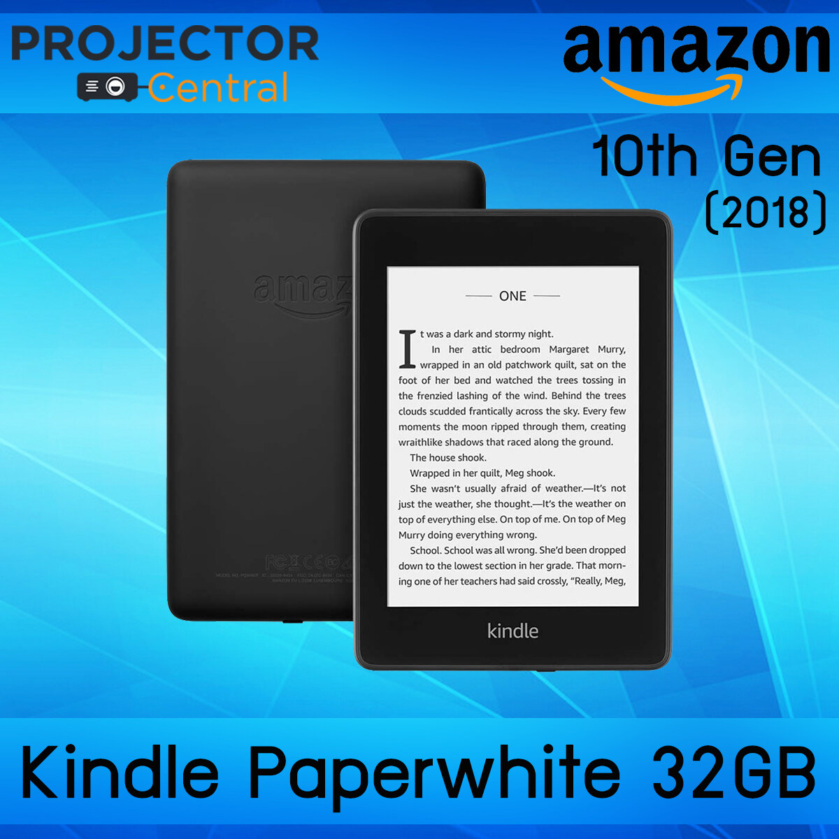 Amazon Kindle Paperwhite (10th Gen/ 2018) - Black 32gb (no Ad. On Screensaver/international Version) Ebook Reader,1 Year Warranty.