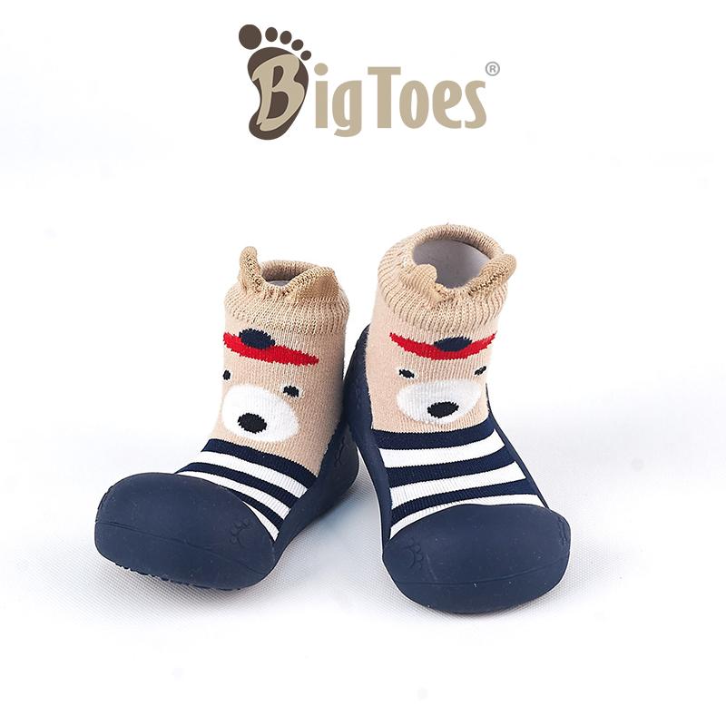 รองเท้าเด็ก รองเท้าเด็กอ่อน รองเท้าเด็กหัดเดิน Bigoes ลาย Cuty bear blue [Best Seller**]