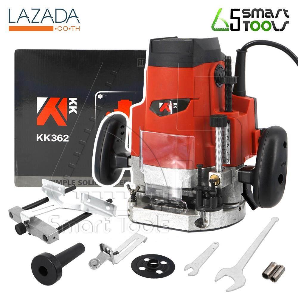 KK เร้าเตอร์ เครื่องเซาะร่องไม้ไฟฟ้า 1,650W ขนาด 1/2 นิ้ว รุ่น KK362 (สีแดง)