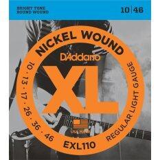 ขาย D Addario Electric Guitar Strings Exl110 Nickel Wound Regular Light 10 46 ออนไลน์ ใน ไทย
