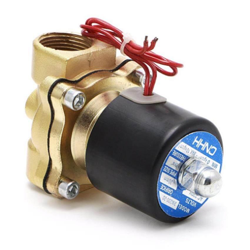 Diy Tools โซลินอยด์วาล์วทองเหลือง 1/2 นิ้ว 220vac แบบปกติปิด จ่ายไฟเปิด ( Nc ) By Diy Tools.