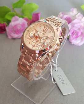 GEDI Watch นาฬิกาเกาหลี งานแท้ หน้า MK สีพิงค์โกลด์ สินค้าขายดีมาก