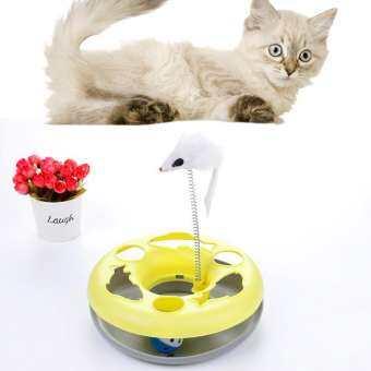 LightSmile Cat turntable แมวสัตว์เลี้ยงหนูเคลื่อนที่ฤดูใบไม้ผลิลูกบอลของเล่น Turntable ดิสก์กลมการฝึกอบรมของเล่นสำหรับสัตว์เลี้ยง-