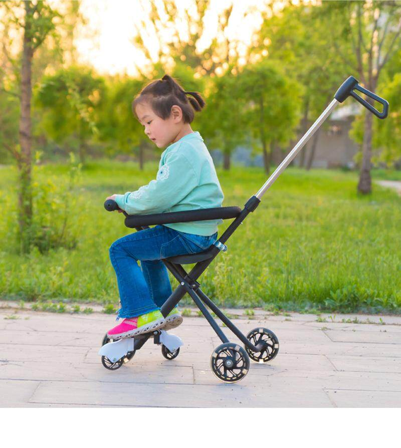 รถเข็นเด็ก 3 ล้อ พับเก็บได้ น้ำหนักเบา พกพาสะดวก รถเข็นเด็กขนาดพกพา รถเข็นเด็ก