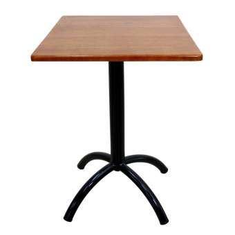 Inter Steel โต๊ะกาแฟ รุ่น T-City ท๊อปไม้ยางพารา สี่เหลี่ยม60x60ซม. (ขาสีดำ/ท็อปสีเชอร์รี่) -