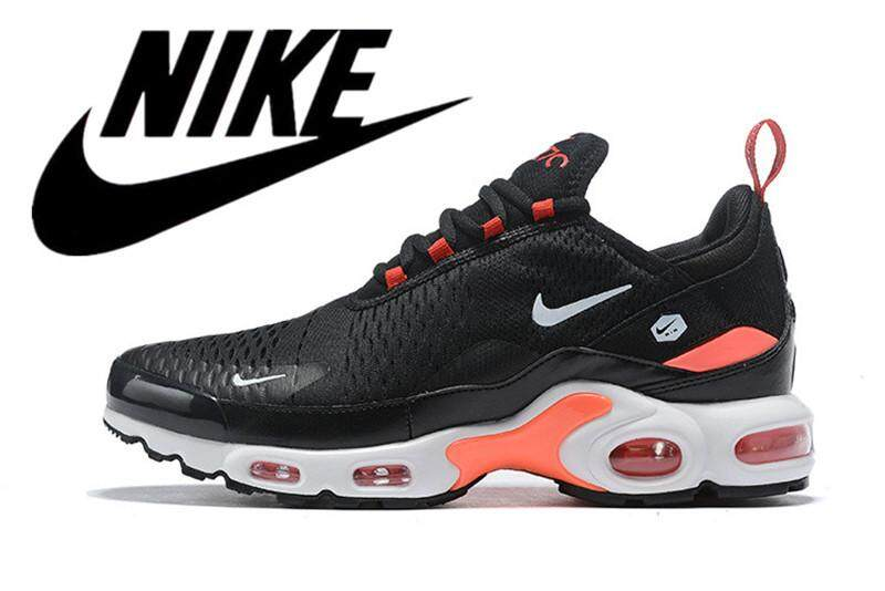 Nike_Air_Max_Plus_TN Men's Air Cushion Shoes Running Shoes Mesh Breathable Black Orange 40-46