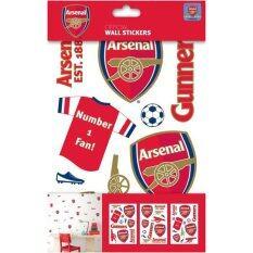ราคา Arsenal Fc Wall Sticker Pack สติ๊กเกอร์ติดผนัง อาร์เซน่อล Thailand