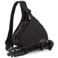Caden กระเป๋ากล้องดิจิตอลแบบสะพาย กันน้ำ - สีดำ