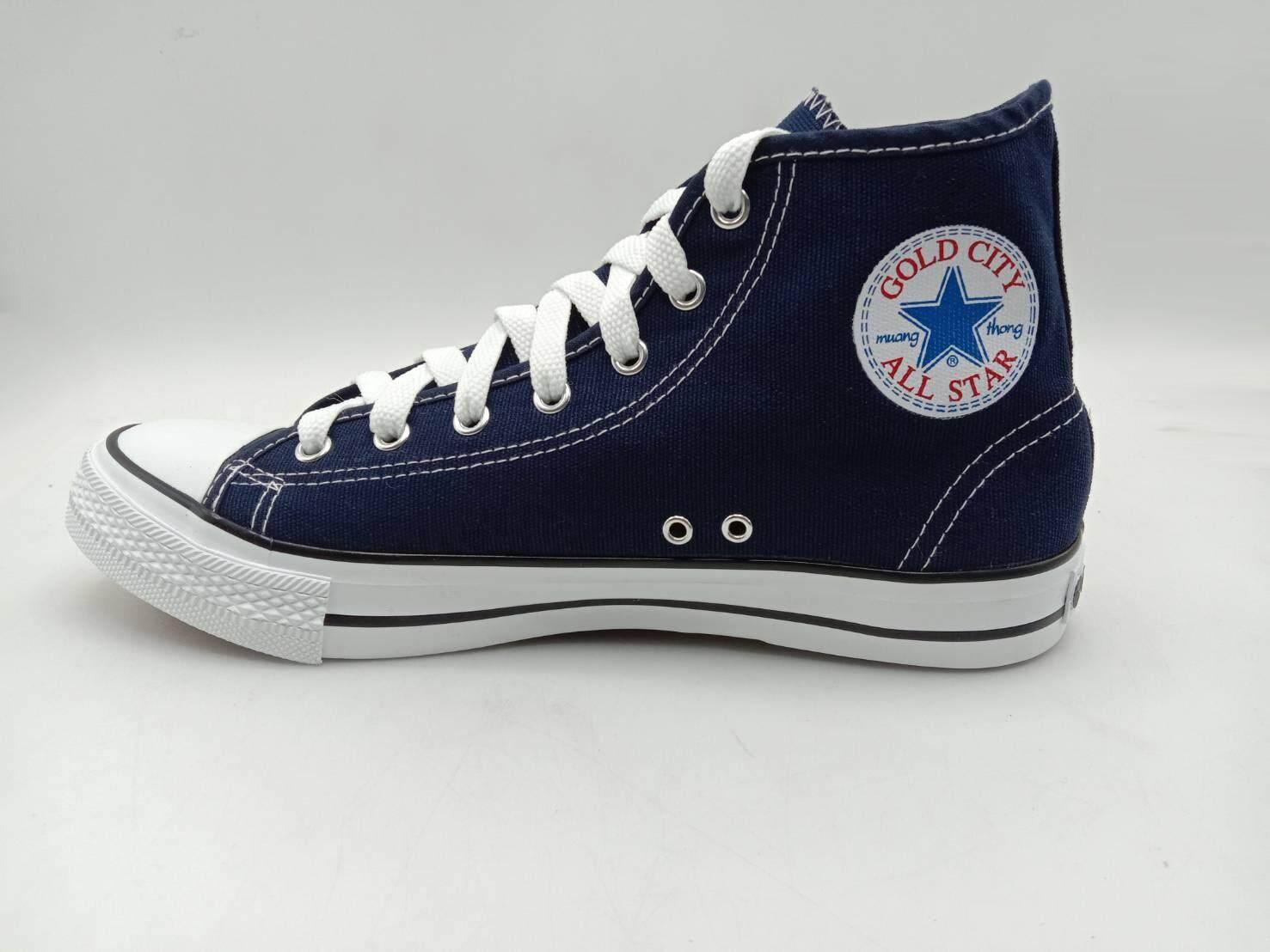 รองเท้าผ้าใบหุ้มข้อ Gold city รุ่น 1252