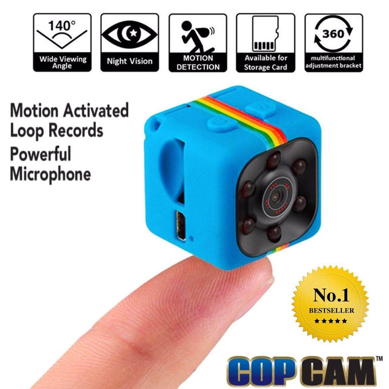 Cop Cam กล้องจิ๋วมหัศจรรย์ Full Hd กล้องถ่ายรูป กล้องติดรถ กล้องจิ๋วขนาดเล็กมินิ บันทึกวีดีโอและภาพนิ่ง ความละเอียดสูงแบบ Full Hd มาพร้อมแมมเมอลี่การ์ด ด้นใน ใช้งานง่าย สะดวกพกพากล้องความละเอียดสูง.