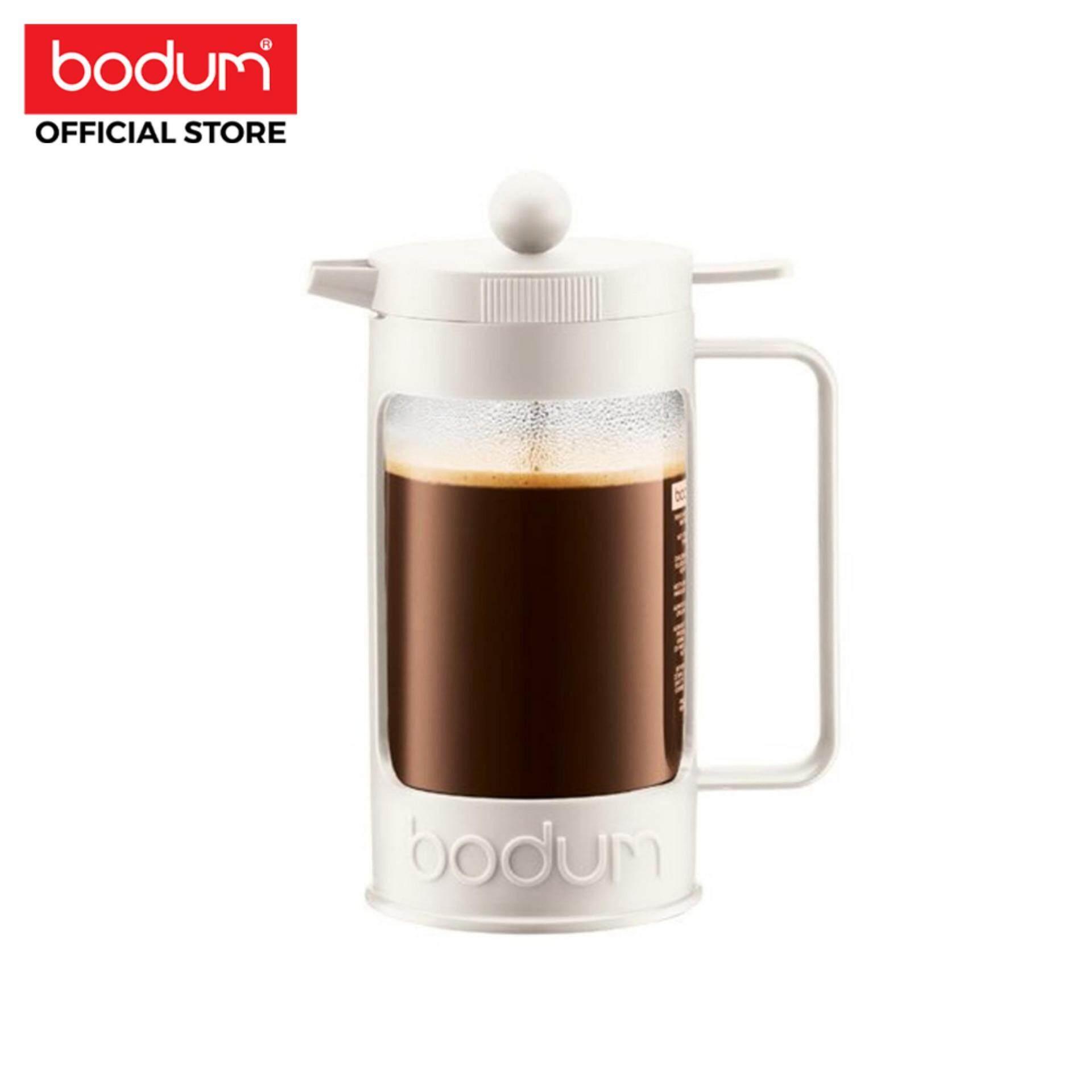 Bodum เครื่องชงกาแฟ Bean  French Press - 8 Cup  34 ออนซ์ สีขาว.