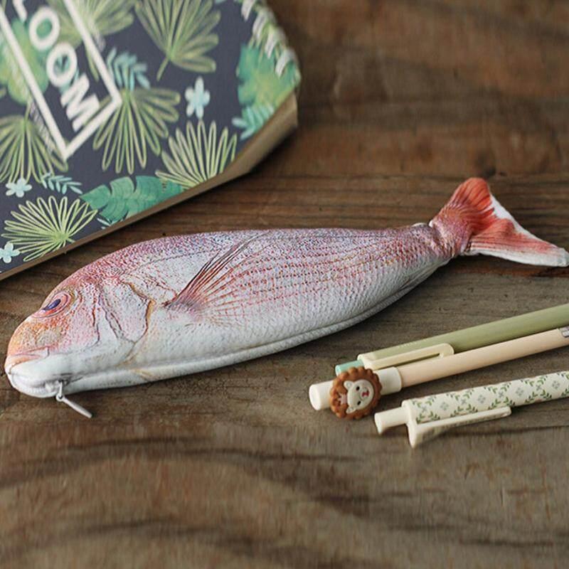 1 Pc Fish Pencil Case Cute Korea Style Cloth Pencils Bags School Supplies Stationery Hot Pen Box Gift
