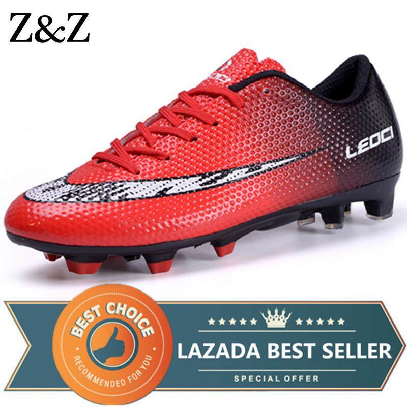 e46926be02e9 Z&Z Men Football Shoes For Boys Kids Soccer Outdoor Shoes Training Sports  Sneakers