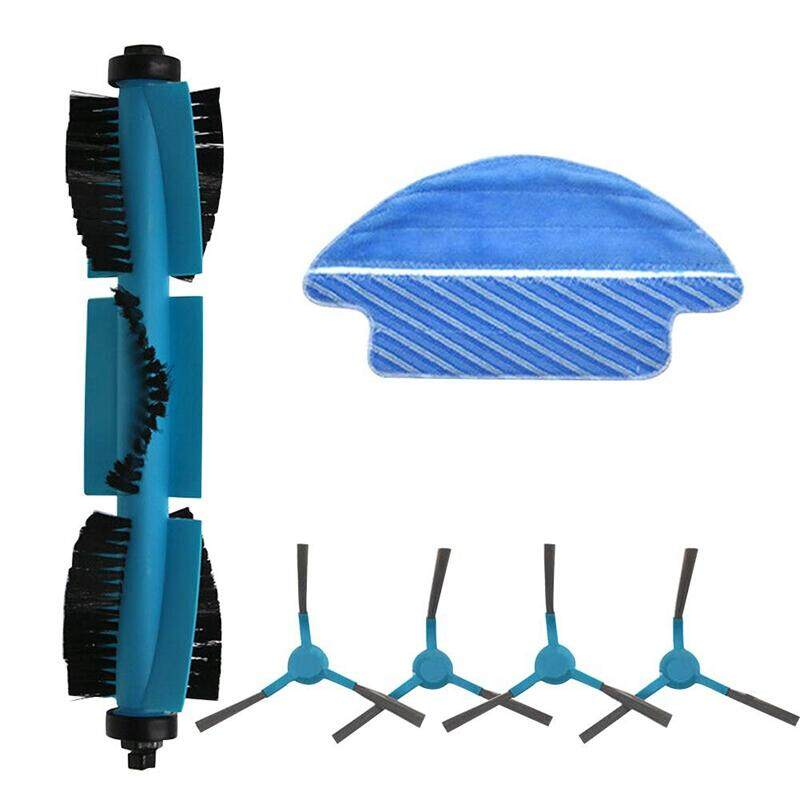 Roller Brush Side Brush Rags Set Replacement Parts for Cecotec Conga 3090 Vacuum Cleaner Robot