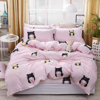 IMผ้าปูที่นอน 6ฟุต 5ชิ้น  รัดมุม Fitted sheet (ลายผ้านวม) (รัดมุม เตียงสูง10นิ้ว)(ไม่รวมผ้าห่ม)-