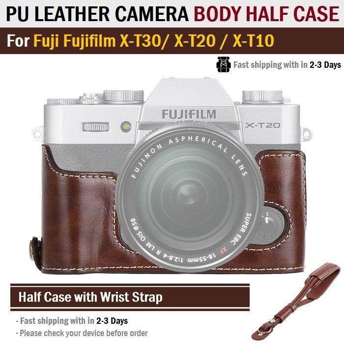 Leather Camera Protect Half Case Grip for Fujifilm X-T100 XT100