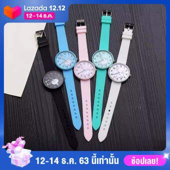【Hot Sale】เครื่องประดับแฟชั่นนาฬิกาการ์ตูนสายหนัง Faux ควอตซ์นาฬิกาข้อมือ Unisex ของขวัญ
