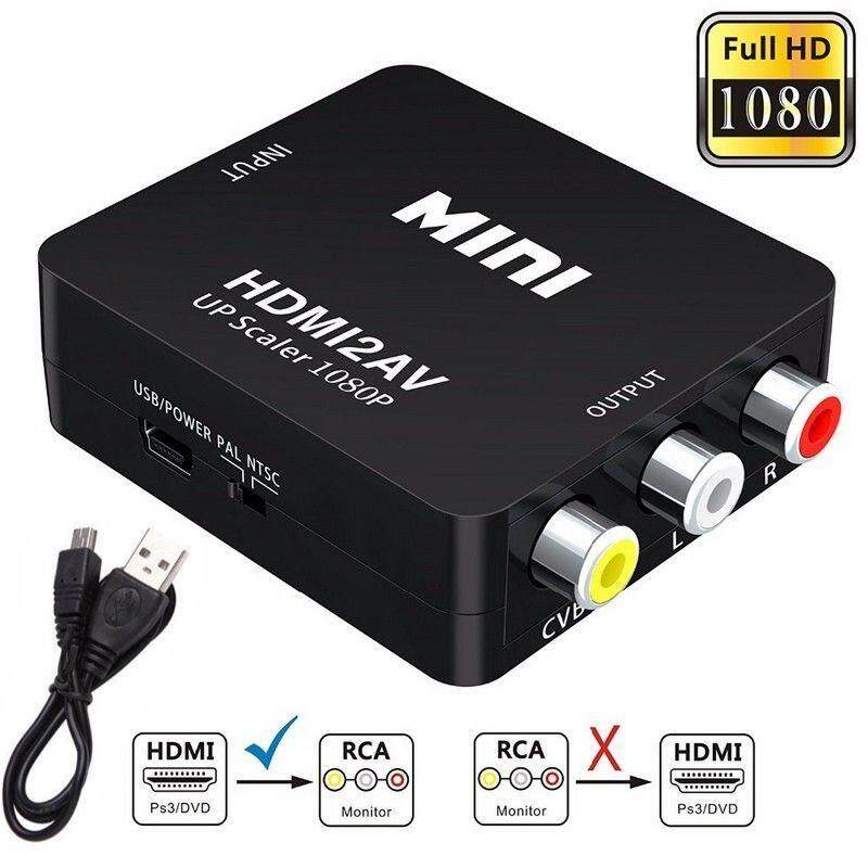 ตัวแปลง HDMI to AV HDMI TO RCA (black)