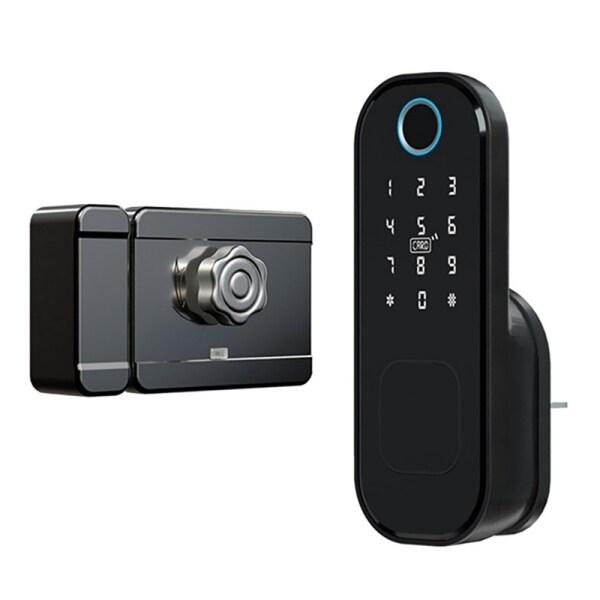 Smart Locks Bluetooth Fingerprint Door Lock Waterproof Outdoor Gate Lock Wifi Passcode Card Keyless Electronic Lock