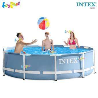 Intex ส่งฟรี สระน้ำ ปริซึ่มเฟรม 10 ฟุต (3.05x0.76 ม.) รุ่น 28700-