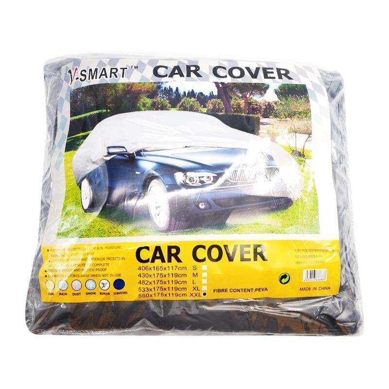 ผ้าคลุมรถยนต์ ขนาด L, Xl กันฝุ่นได้ดี ไม่แห้งกรอบง่าย กันรอยขีดขวนได้ กันมูลนก ใช้กับรถเก๋ง กันเชื่อรา. By Z2me-Shopping.
