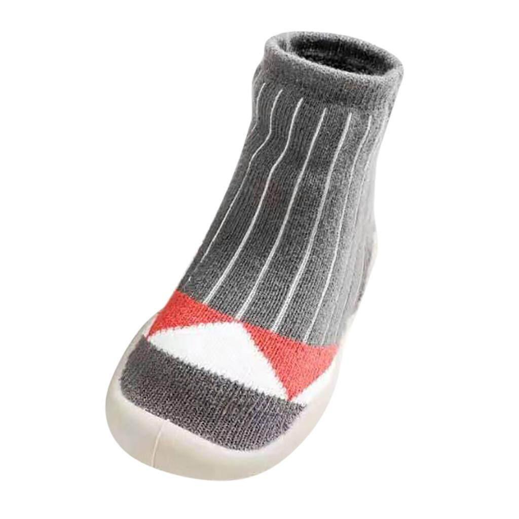 Soft Newborn Baby Boys Girls Cartoon Floor Socks Anti-Slip Step Shoes Socks Gift