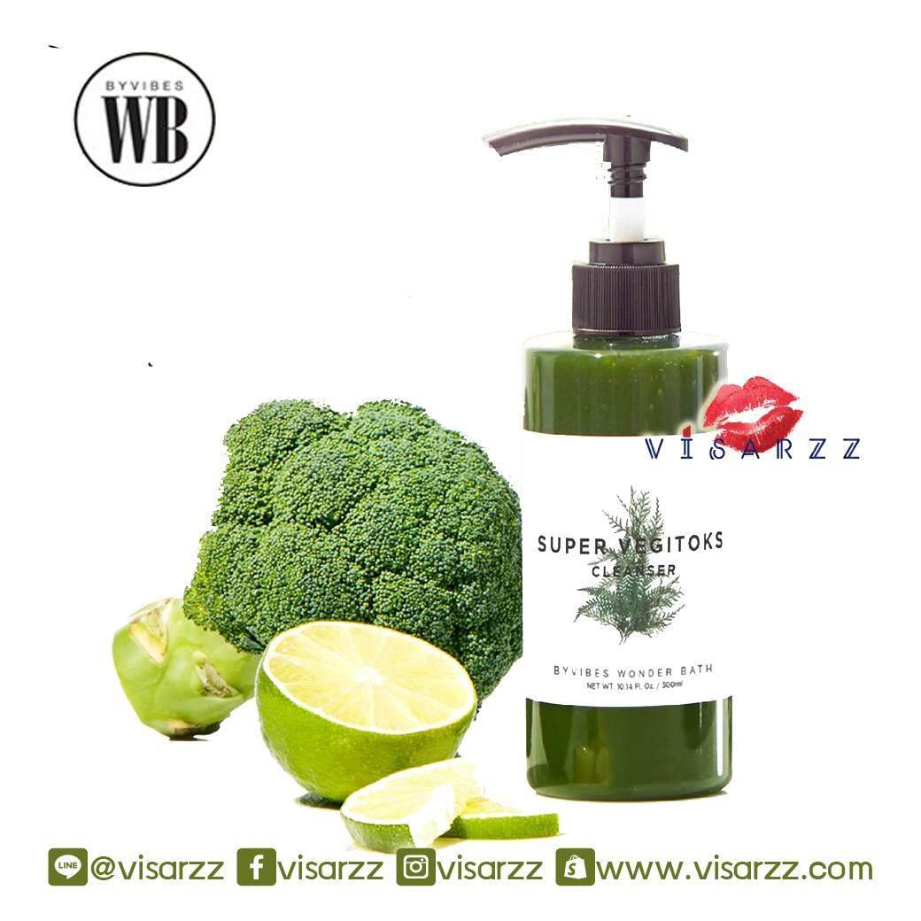 #Green (ขายส่ง 395.-) Wonder Bath Super Vegitoks Cleanser 300mL คลีนซิ่งผัก อันโด่งดังจากเกาหลี บับเบิ้ลคลีนเซอร์จากน้ำผลไม้เข้มข้น 15 ชนิด เพื่อให้ผิวสะอาดเรียบเนียน กระจ่างใส และลดความมัน ทำความสะอาดเครื่องสำอางได้ทั้งใบหน้าตั้งแต่ตายันปากเลยจ้า