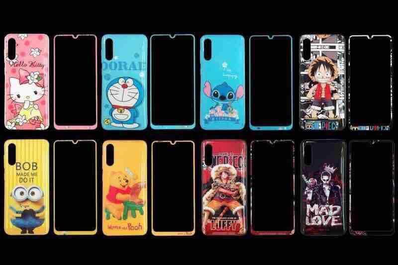 เคส ประกบหน้าหลังoppo,vivo,huawei,iphone,samsung ลาย การ์ตูน พร้อมฟิล์มกระจกกันแตกเต็มจอ ลายเดียวกับเคส.