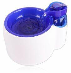 ราคา Itandhome น้ำพุสัตว์เลี้ยง เครื่องให้น้ำอัตโนมัติ พร้อมระบบกรองน้ำสะอาด สีขาวฟ้า ใหม่ล่าสุด