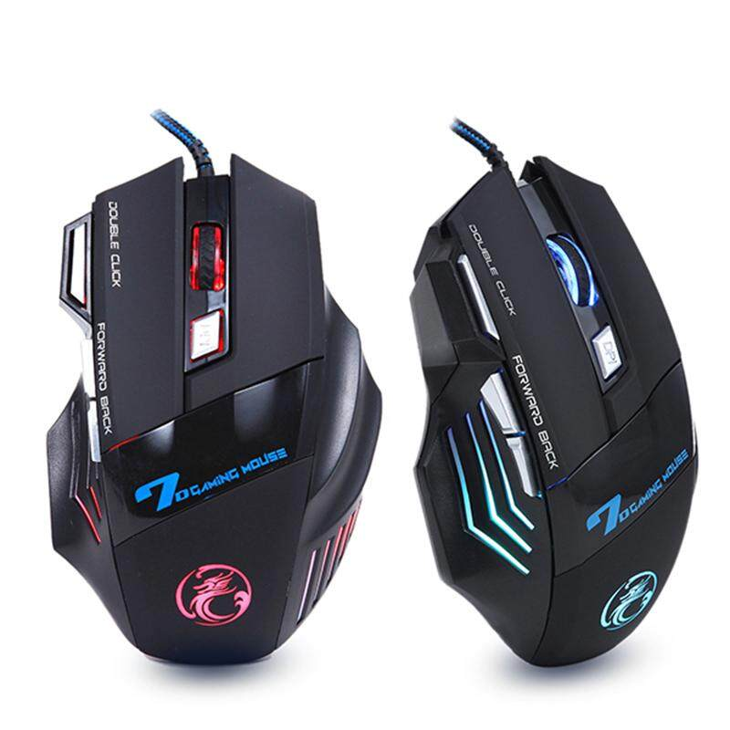 Asc เมาส์ไร้สายแบบมีสาย Ergonomic Gaming Wired Silent Mouse 7 Button 5500 Dpi Led Usb Computer Mouse Gamer Mice X7 Silent Mause With Backlight For Pc Laptop.