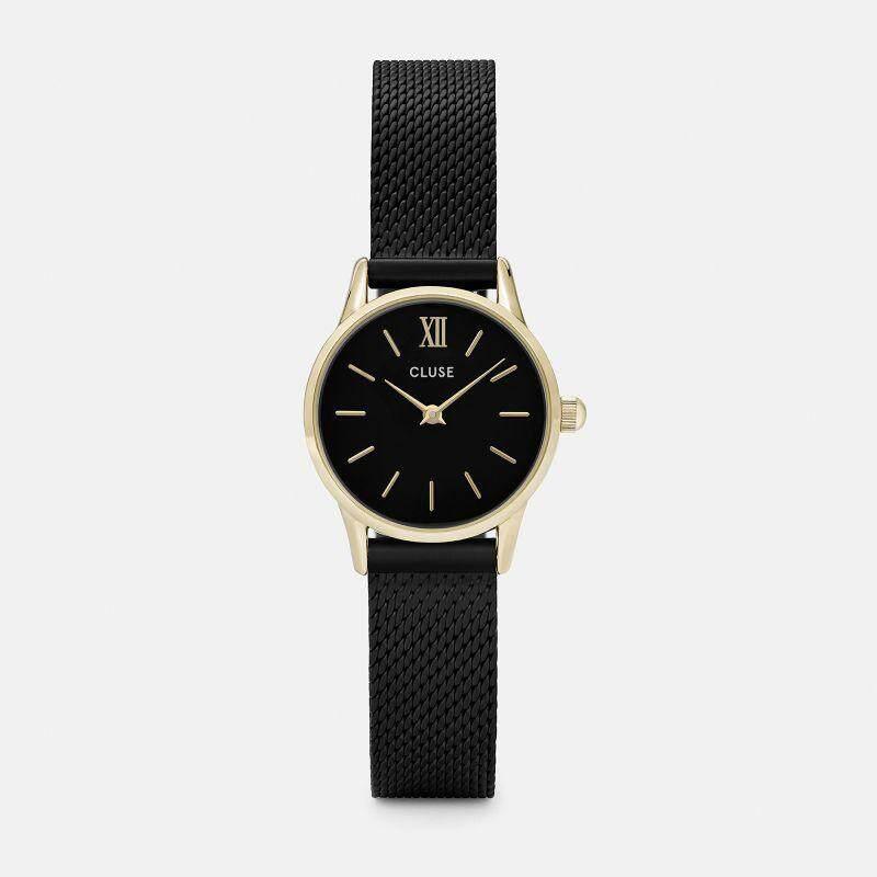 Original Cluse Watch La Vedette Mesh Gold Black/Black 24 mm Malaysia