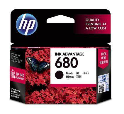 หมึกปริ๊น Hp 680 Black Or Color Original Ink Advantage Cartridge.